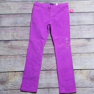 NWT The Children's Place purple 16 corduroy pants